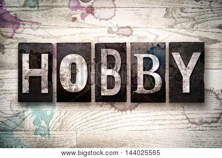 Hobby Concept Metal Letterpress Type