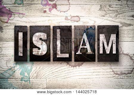 Islam Concept Metal Letterpress Type