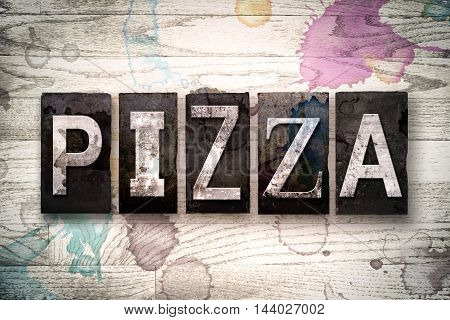 Pizza Concept Metal Letterpress Type
