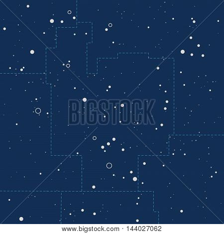 Abstract night sky with stars cosmic background.