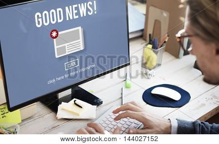 Goods News Newsletter Announcement Daily Concept