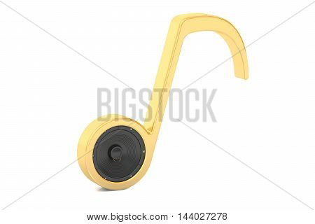 musical concept 3D rendering isolated on white background