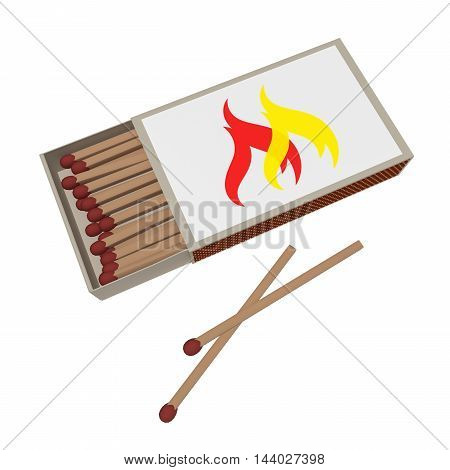 Matchbox With Matches Isolated On A White Background 3d illustration