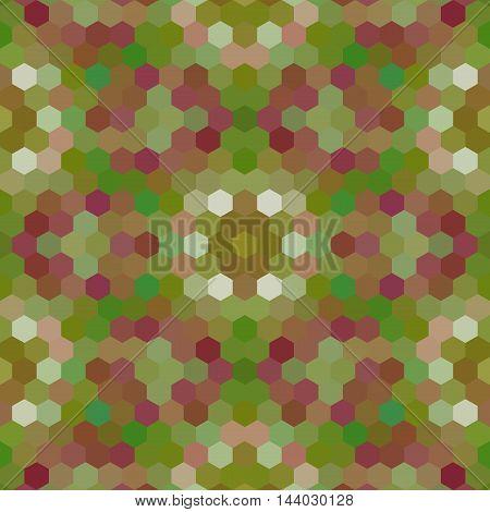 Kaleidoscopic Low Poly Hexagon Style Vector Mosaic Background