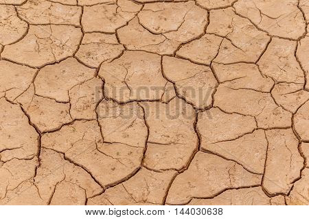 Clay Dry cracked earth texture for background