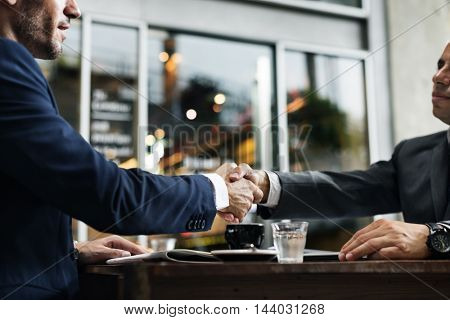Handshake Partnership Deal Agreement Terms Concept