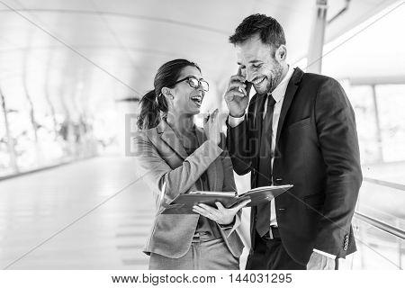 Businessman Businesswoman Colleagues Office Concept