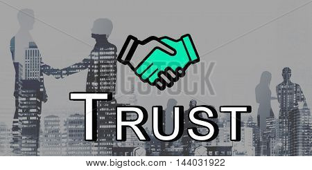 Trust Handshake Partnership Cooperation Graphic Concept