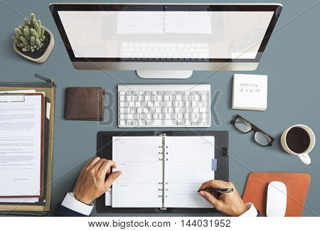 Business Objects Office Workspace Desk Concept