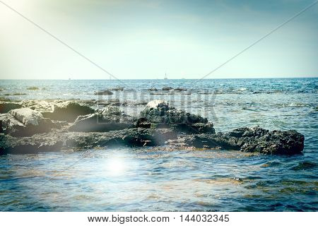 Rocks in the sea - pure untouched nature for your vacation