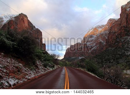 Beautiful Southwestern Landscape in Zion National Park, Utah