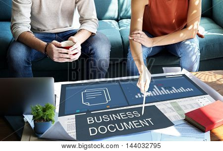 Business Financial Budgeting Plan Concept