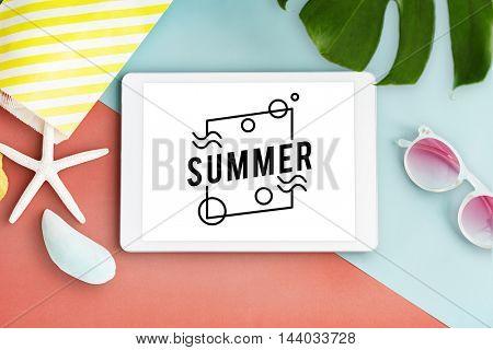 Summer Vacation Fun Concept