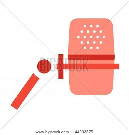 Microphone vector icon isolated on white. Journalist vector microphone, interview, music studio. Web broadcasting microphone, vocal mike tool, tv show microphone.. Mike isolated on white