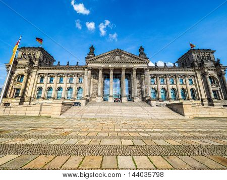 Reichstag Parliament In Berlin (hdr)