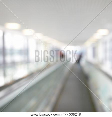Moving walkway out of focus - blured background
