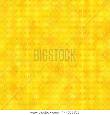 Yellow gold seamless pattern with hexagon shapes abstract color background. Blank template swatches vector illustration save in 10 eps