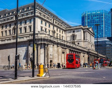 Bank Of England In London (hdr)