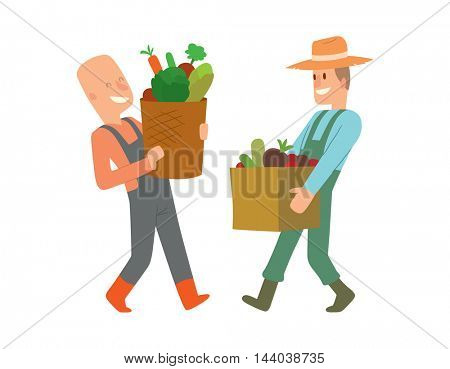 Garden harvest people vector character