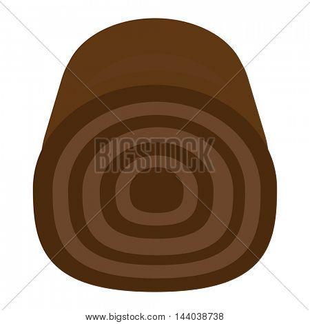 Chocolate roll vector illustration.
