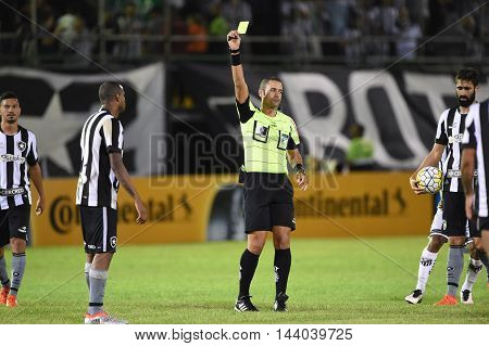 Rio de Janeiro Brazil - july 27 Referee Emerson de Almeida Ferreira during Botafogo x Bragantino valid for the return leg of the 3rd phase of the Brazil Cup held at the Arena Botafogo