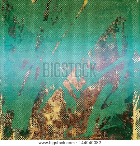 Vintage and retro design elements on faded grunge background. With different color patterns: yellow (beige); brown; green; blue; cyan