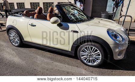 Mini Car In Milan (hdr)