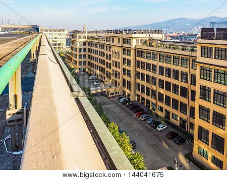 Fiat Lingotto Headquarters In Turin (hdr)