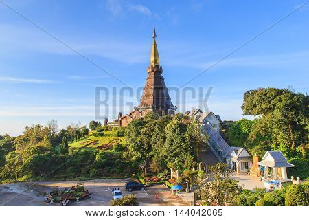 Doi Inthanon in sunshine day at Chiangmai Province, Thailand