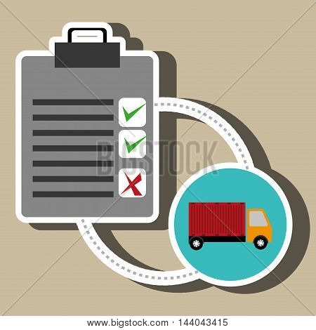 clipboard check list shipping vector illustration eps 10