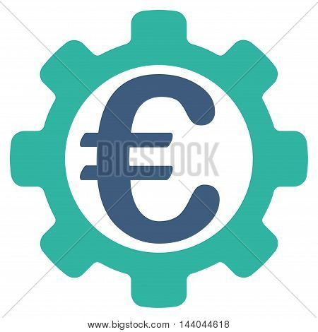 Euro Payment Options icon. Glyph style is bicolor flat iconic symbol, cobalt and cyan colors, white background.