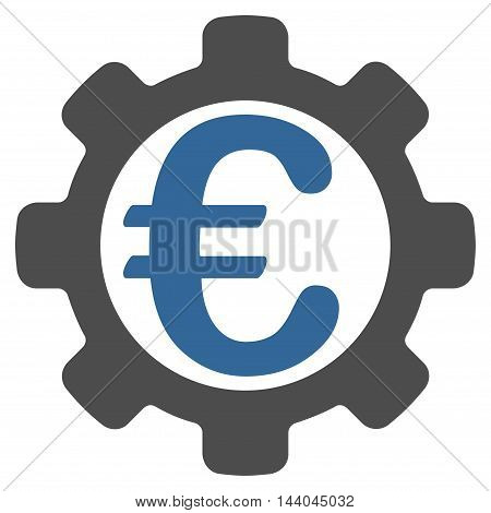 Euro Payment Options icon. Glyph style is bicolor flat iconic symbol, cobalt and gray colors, white background.