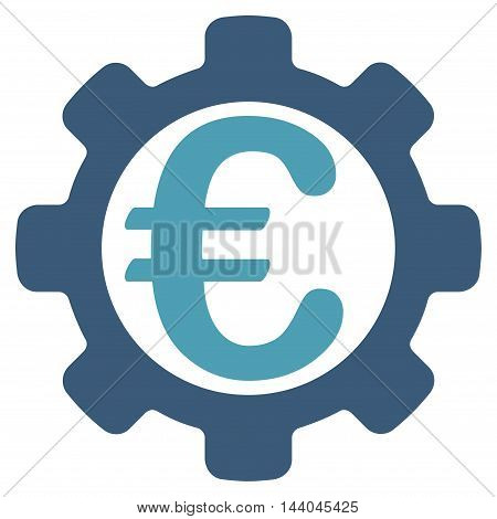 Euro Payment Options icon. Glyph style is bicolor flat iconic symbol, cyan and blue colors, white background.