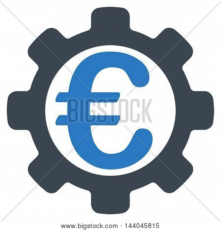 Euro Payment Options icon. Glyph style is bicolor flat iconic symbol, smooth blue colors, white background.