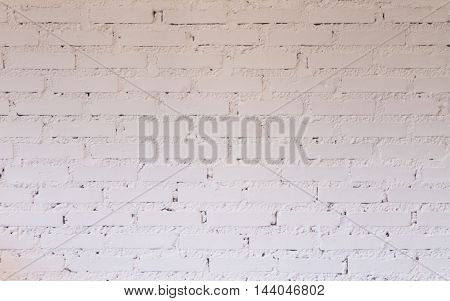 Brick wall decorated in coffee shop, stock photo