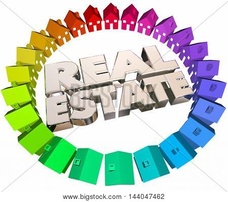 Real Estate Agents Agency Houses Homes for Sale 3d Animation