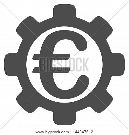 Euro Payment Options icon. Glyph style is flat iconic symbol, gray color, white background.