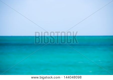 Blurry Of Seascape For Background