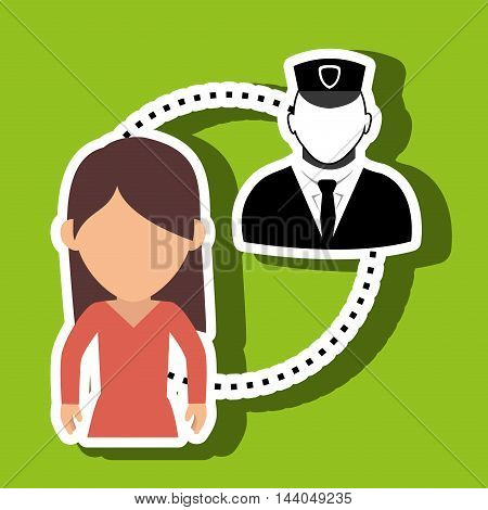 character guard secure protection vector illustration eps 10