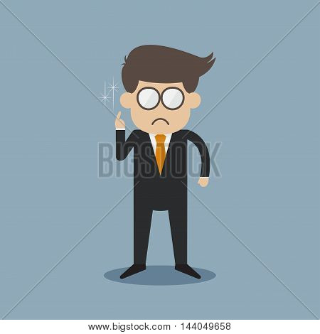 a glasses business man vector illusion design