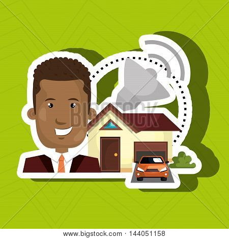 man house security protection vector illustration eps 10