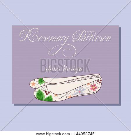 Vintage Business Card For Shoes Designer