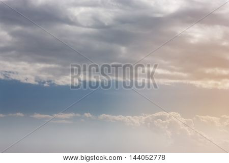 Beautiful Blue Sky Background Template With Some Space