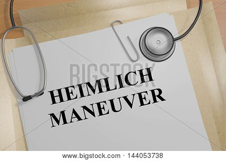 Heimlich Maneuver - Medical Concept