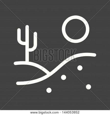 Desert, wild, cactus icon vector image.Can also be used for wild west. Suitable for mobile apps, web apps and print media.