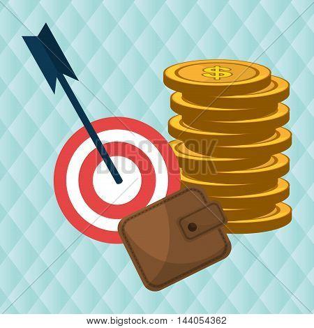 target money cash vector illustration eps 10
