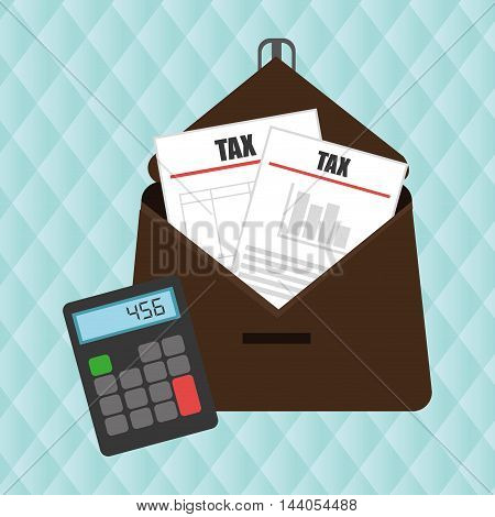 portfolio tax calculator pay vector illustration eps 10