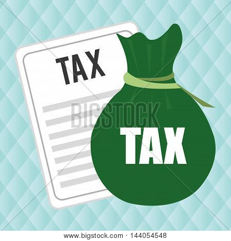taxes bag money payment vector ilustration eps 10