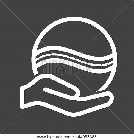 Throw, ball, hand icon vector image. Can also be used for hand actions. Suitable for web apps, mobile apps and print media.