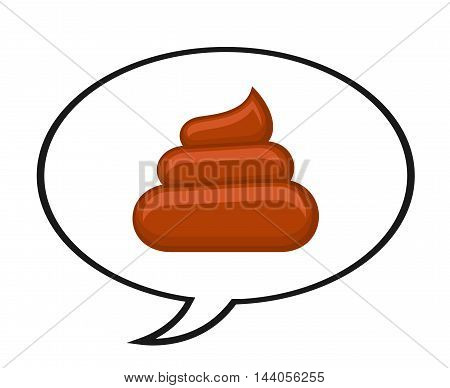 Shitty quote isolated white. Design poster with speech bubble. Vector illustration